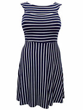 Plus Size Striped Knee Length Everyday Dresses for Women