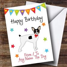 To From Pet Dog Toy Fox Terrier Personalised Birthday Card
