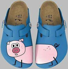Birkis Woodby Clogs Größe 26 Schwein blau pig blue Hausschuhe Pantoffeln NEU