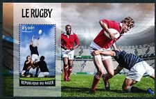 NIGER 2016 RUGBY  SOUVENIR SHEET MINT NEVER HINGED