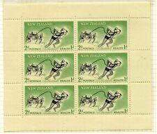 Mint Hinged New Zealand Stamp Blocks