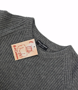 PULLOVER SWEATER L JERSEY HERREN 100% PURE CASHMERE KASCHMIR SEAGULL COMPANY
