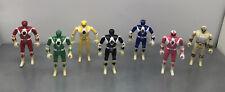 Lot 7 Figurines Vintage Power Rangers Mighty Morphin Auto Morphin Bandai 1994