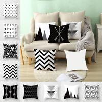Geometric Pillow Case Cushion Cover Lumbar Back Throw Pillowcase Home Sofa NEW