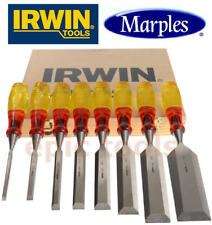 IRWIN MARPLES 8 Piece Split Proof M373 Honed Hand Wood Chisel Set & Case, 6-50mm