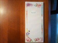 New Marjolein Bastin Hallmark Long Memo Note Pad w/ Magnet Art Theme