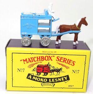 LESNEY MATCHBOX NO. 7 HORSE DRAWN MILK CART - MINT BOXED