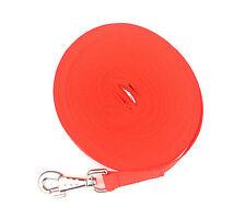 100ft perro formación conducen, obediencia, Correa, recordar 25mm ligero de tela en rojo