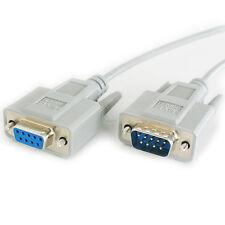 2m 9 manière RS232 mâle à femelle null modem câble d'extension plomb-série broche DB9