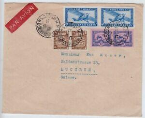 Frankreich, Indochina, Luftpost Saigon - Luzern 1947