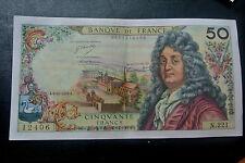 50 FRANCS RACINE A4/10/1973 SPL 1 PLI(2)  1 EPINGLAGE