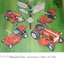 1966 Simplicity Lawn Tractor advertisement, ride-on tractors on Mary Jane Lane