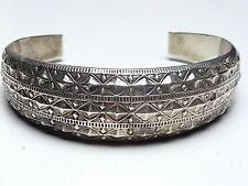 2 cm breiter Jugendstil Silber Armreif - 925 Silber punziert um 1910 - 6,5 x 6cm