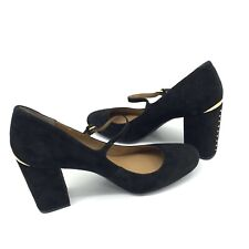 Calvin Klein Cassian Black Suede Ankle Strap Mary Jane Women's Shoes US 11