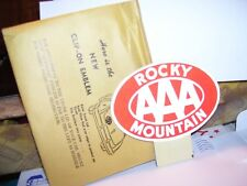 Vintage nos 50s AAA Rocky Mountain colorado license plate topper gm chevy ford
