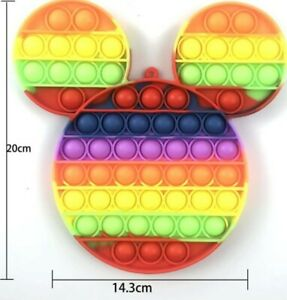 Mickey Mouse Push it Bubble Pop Fidget Sensory Toy ADHD Stress Reliever Toys