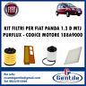 KIT 4 FILTRI TAGLIANDO FIAT PANDA 1.3 D MTJ 51KW 70CV DAL 2003 AL 2004 PURFLUX