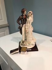 1984 Vintage Giuseppe Armani Bride & Groom Statue Florence Brand New With Tags