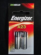 2 Pack Energizer A23 Battery 12Volt 23AE 21/23 GP23 23A 23GA MN21 12v Sealed