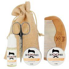 Beard Grooming Kit | Oil, Balm, Moustache Wax, Comb & Scissors | Vanilla & Mango