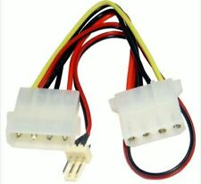 Computer Fan Power Adapter Cable 4 pin LP4 Molex Female to 3 pin Fan