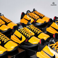 Nike Kobe 5 Protro Bruce Lee Yellow Black Men's size Shoes CD4991-700