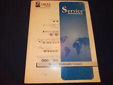 GROVE RT600C SERIES CRANE SERVICE SHOP REPAIR MANUAL BOOK