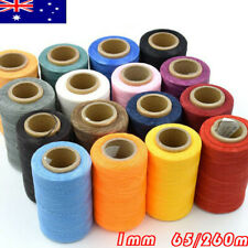 Sewing Waxed Thread Cords for Crafts Leather Shoes All Purpose 260m 1mm 15Colors