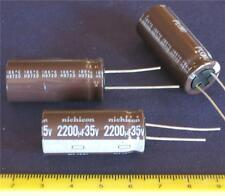Electrolytic 2200uf 2200 uf 35v Radial Capacitor ( Qty 5 ) *** NEW ***