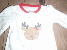 Carters Child of Mine Baby Christmas Reindeer Sleeper Newborn NWT