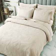 Soft Cotton Bedspread Quilt Set Reversible Bed Coverlet Full Queen Embroidery