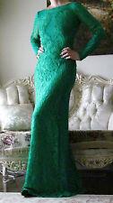 New EMILIO PUCCI Runway Emerald/Green Lace/Chiffon dress It 38,US 0-4,UK 6,XS-S