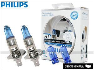 H1 PHILIPS White Vision White Effect 3700K 12V 55W bulbs 12258WHVSM + Free 194