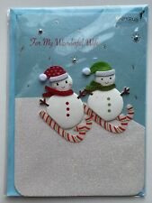 Nip Papyrus Christmas Holiday Greeting Card For My Wonderful Wife - Snowman