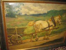 TIPPMANN Albin, *1871 Pferdefuhrwerk in Landschaft
