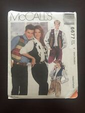 McCall's 6677 Unisex Western Style Vests XS, S, M   Sewing Pattern