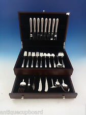 Silver Flutes by Towle Sterling Silver Flatware Set For 8 Service 54 Pieces