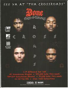 BONE THUGS N HARMONY Rare Crossroads 1996 PROMO TRADE AD Poster for Eternal CD