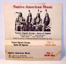 Tenton Oglala Songs - Sons of Oglala RARE Cassette Matthew & Nellie Two Bulls !!
