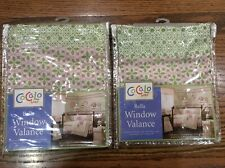 "Set of Two Cocalo Baby ""Bella"" Window Valances Light Pink and Green Nursery"