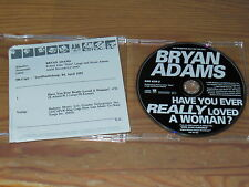 BRYAN ADAMS - HAVE YOU EVER REALLY....... / 1 TRACK MAXI-CD 1995 & INFO-FACTS