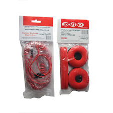 Red HD-25 Spiral DeLuxe Cable for Sennheiser Headphone HD 25 and Ear Pads Kit
