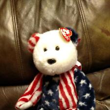 Ty Beanie Buddy Spangle Patriotic American Flag Teddy Bear Plush Stuffed  Toy TAG 8511c62faad5