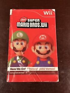 New Super Mario Bros Wii MANUAL ONLY, NO GAME, NO REFUNDS