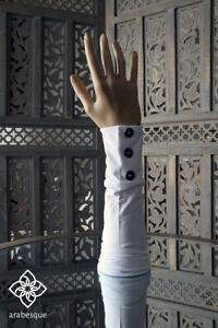 Islamic Gloves Arm Sleeves - With Buttons Style