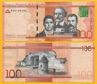 Dominican Republic 100 Pesos Dominicanos p-190 2017(2018) UNC Banknote