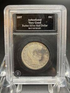 1897 P Barber Silver Half Dollar