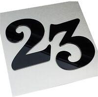 Acrylglas Hausnummer Hochglanz schwarz 15 cm hoch, Nummer, Zahl, Zahlen (HN2)