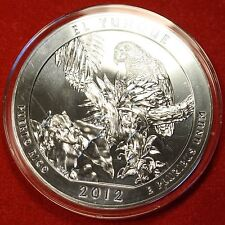 2012 ATB EL YUNQUE DESIGN .999% 5 OZ SILVER ROUND BULLION COLLECTOR COIN