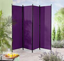 Paravent 4 Teilig Violett Trennwand Raumteiler Sichtschutz Beere Lila  Günstig